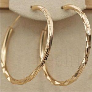 💎18k Gold Hoop Earrings ear ring